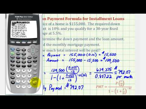 Ex 1: Find a Monthly Mortgage Payment with a Down Payment