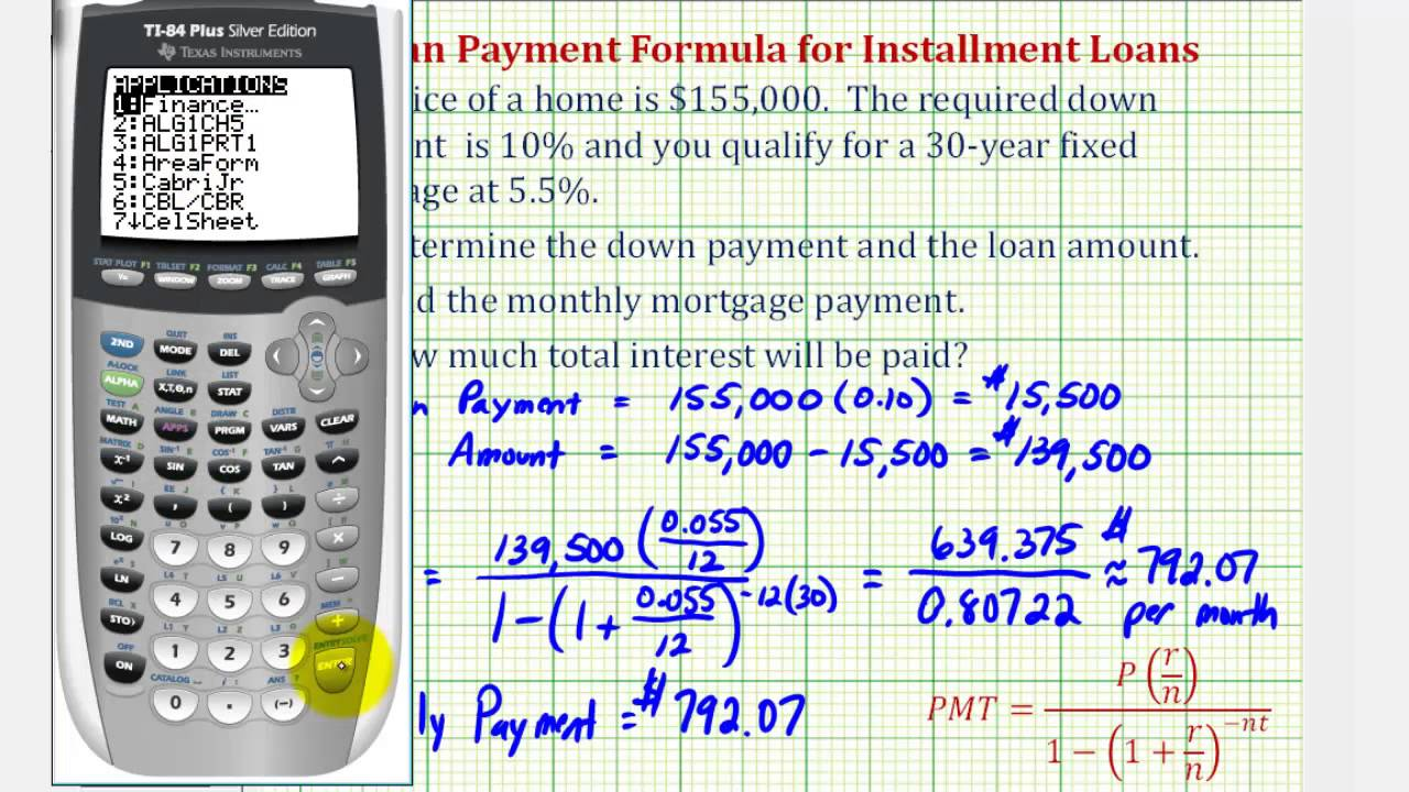 Mortgage Down Payment Calculator >> Ex 1 Find A Monthly Mortgage Payment With A Down Payment Youtube
