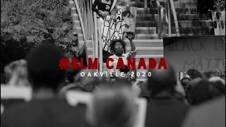 Black Lives Matter. Canada Protest. Oakville 2020.
