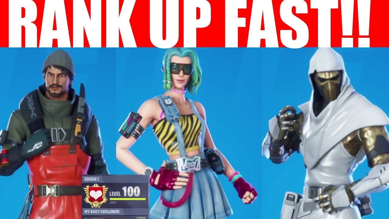 Fortnite Season 11 Xp System How To Level Up Fast Get Tier 100 Fortnite Chapter 2 Rank Up Fast Season 11 Youtube