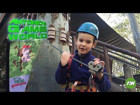 Treetop Adventure Park - Treetop Challenges for Kids outdoors  in Australian bush!