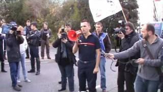 Manifestation devant le SDIS83 du SA83 le 24 Nov.2009