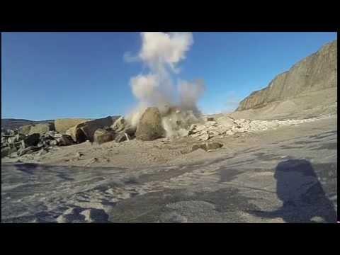 Blowing up Bedrock - Watson River - Kangerlussuaq - April 2013