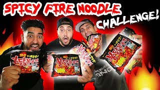 NUCLEAR SPICY FIRE NOODLE CHALLENGE // HOUSE ALMOST CAUGHT FIRE 🔥 | MOE SARGI