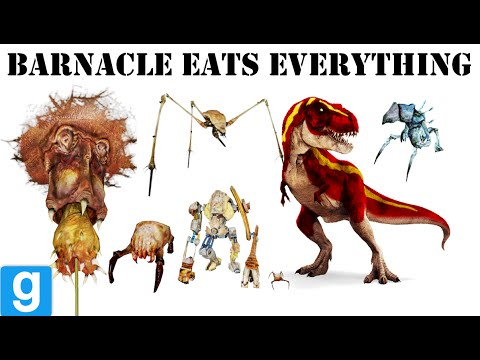 Gmod - Barnacle Eats Everything - G-mod barnacle Fun ✔