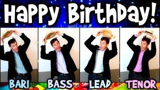 Happy Birthday song - A Cappella Barbershop Quartet