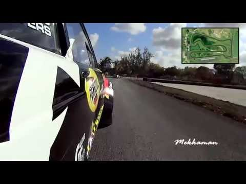 Roger & Barry Mayers - First laps at the new Bushy Park Raceway, Barbados