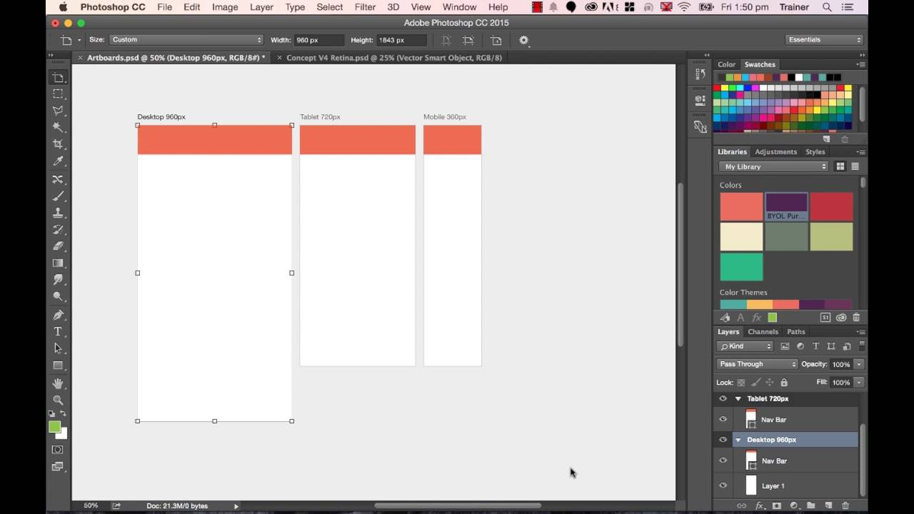 Photoshop CC 2015 Web Design Tutorial - Learn About Website Page Heights In Adobe Tutorials - 19/48
