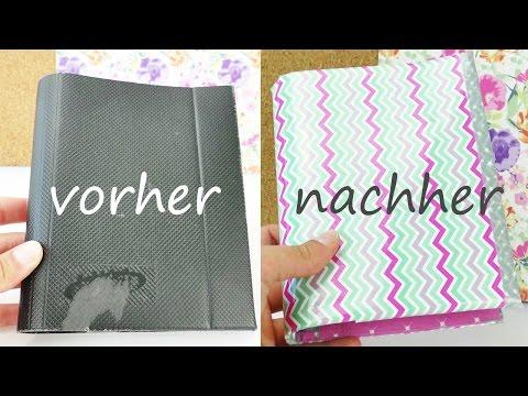 "DIY Aus alt mach neu | ""Filofax"" selber machen | alter Ordner wird zu neuem coolen Kalenderbuch"