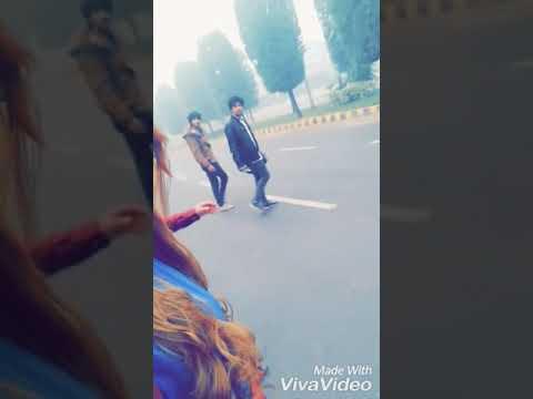 At Shooting Of Mera Jahan Vs Roiyan/AHMAD NASIR/HANIYA KHAN