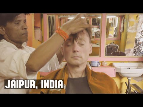 Classic Old Indian Barbershop WetShave, Face and Head Massage Experience