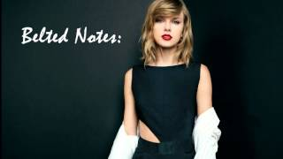 Taylor Swift Vocal Range C3 - E5 - G5