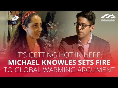 IT'S GETTING HOT IN HERE: Michael Knowles sets fire to global warming argument