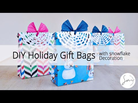 How to Make DIY Holiday Party Gift Bags