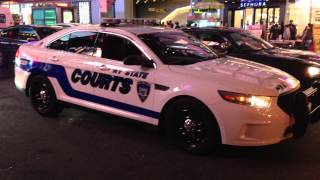 BRAND NEW NEW YORK STATE COURTS UNIT CRUISING BY ON W. 42ND ST. IN TIMES SQUARE, MANHATTAN, NYC.