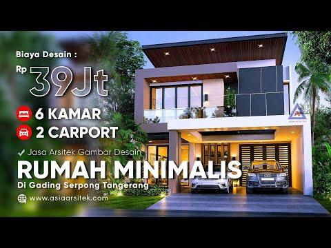 jasa desain rumah minimalis 2 lantai 20x10 @gading serpong
