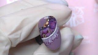 Рисунки на ногтях! Слайдер-дизайн на гель-лаке