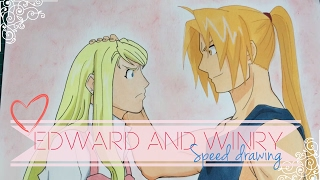 Speed drawing - Edward Elric and Winry Rockbell | Valentine
