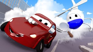 đội xe tuần tra - Jerry nhí bị MẤT TÍCH - Thành phố xe 🚓 🚒 những bộ phim hoạt hình về xe tải