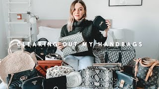 HANDBAG CLEAR OUT & DECLUTTER | ORGANISE WITH ME | I Covet Thee