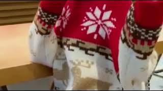[해외직구] 크리스마스 폴라 니트 여성 풀오버 오버사이…