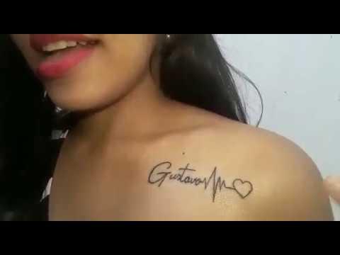 Tatuagem Em Homenagem Ao Meu Filho Gustavo Youtube