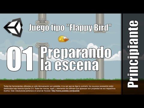 01 - Preparando la escena - Tutorial juego tipo Flappy Bird en Unity