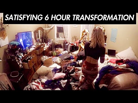 EXTREMELY MESSY ROOM CLEAN UP   TIME LAPSE
