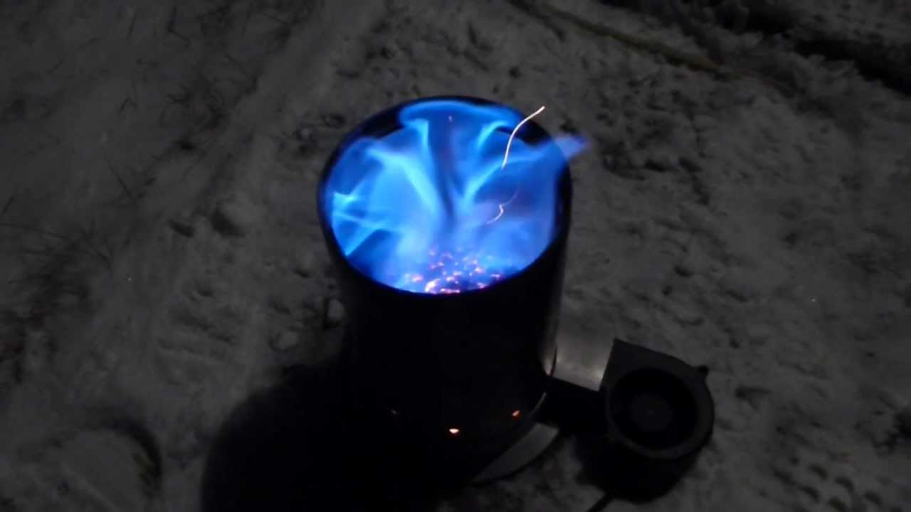 Camping Wood Gasification Stove Test 1 - Camping Wood Gasification Stove Test 1 - YouTube