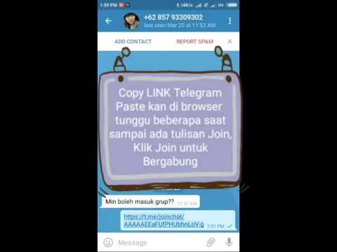 Cara Masuk Grup Telegram Via Link