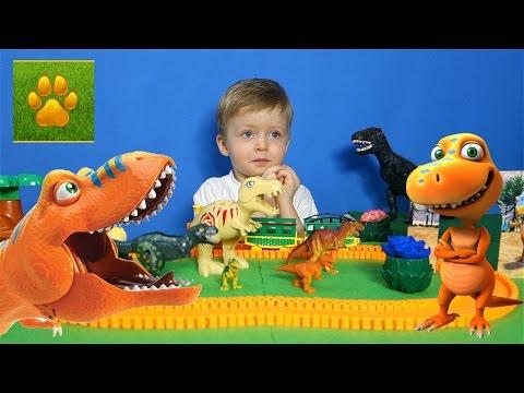 Детям про Динозавров Тиранозавр Поезд  Динозавров Тирано Видео для Детей про Динозавров Lion Boy