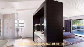 Bathroom and shower in the interior of a modern bedroom  - Nội Thất Chung Cư Đẹp