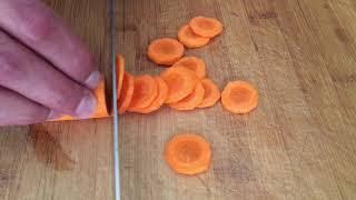 كيف تقطع حلقات الجزرة