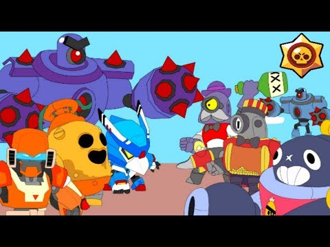 BRAWL STARS ANIMATION: ROBO SPIKE  MECHA CROW MECHA BO VS TICK BARLEY RICO