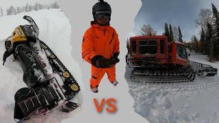Фрирайд в Шерегеше 2020 Снегоходы vs Ратрак