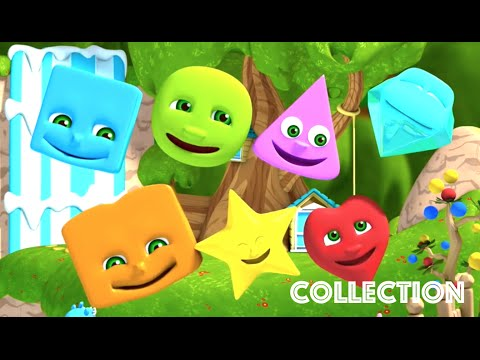 Learn Shapes  Nursery Rhymes Collection For Kids  The Shapes Song  Kindergarten Education