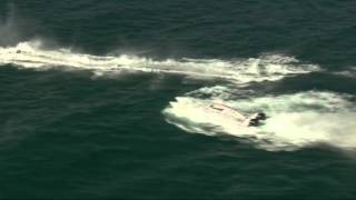 Boat Six Submarine Crash Dives @ Dubai during Round 5 of the 2015 UIM XCAT World Series