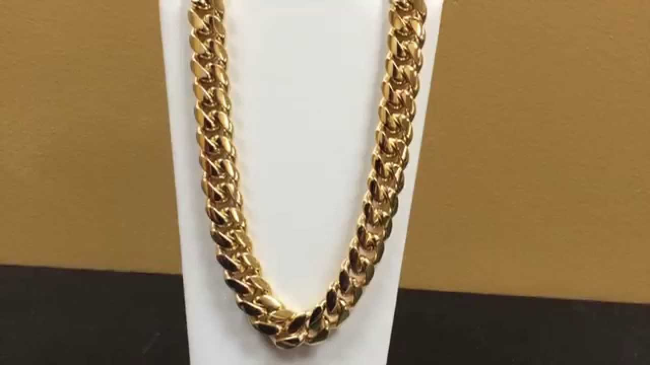 Take A Look At This Amazing 14kt Miami Cuban Link Chain