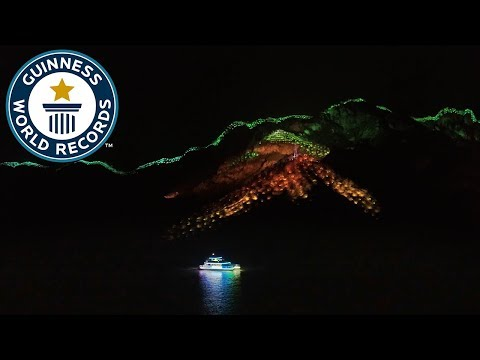 Dazzling light show takes over a whole city! - Guinness World Records