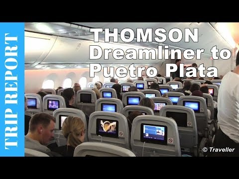 Thomson Boeing 787 Dreamliner flight review to Puerto Plata in the Dominican Republic - G-TUIA