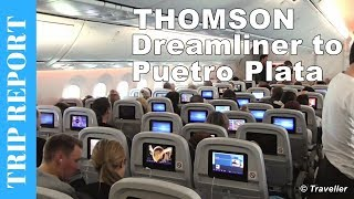 Thomson Boeing 787 Dreamliner flight review to Puetro Plata in the Dominican Republic - G-TUIA
