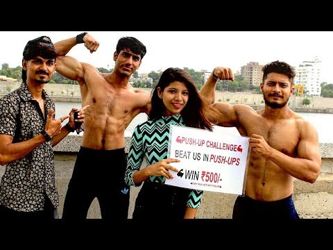 500-rs.-push-up-challenge-  -india-💪🇮🇳-  -public-reaction---shirtless-in-public- -indian-fitness