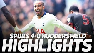 LUCAS MOURA SCORES THE FIRST HAT-TRICK AT TOTTENHAM HOTSPUR STADIUM | Spurs 4-0 Huddersfield