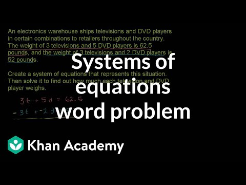 Systems Of Equations Word Problems Example 1 | Algebra I | Khan Academy