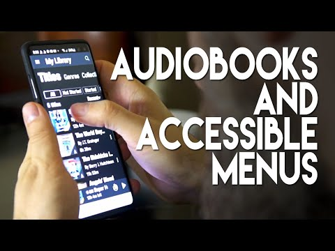 Audiobooks On Audible.com And Accessible Menus On Menus4All.com