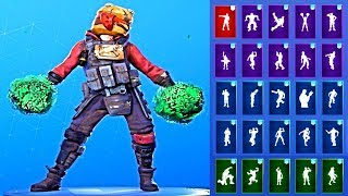 *NEW* Fortnite Gutbomb Skin Showcase with All Dances & Emotes Season 10 Outfit
