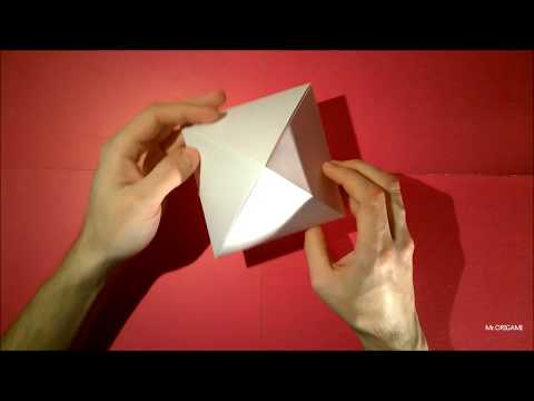 How to make a pyramid out of paper  PYRAMID ORIGAMI