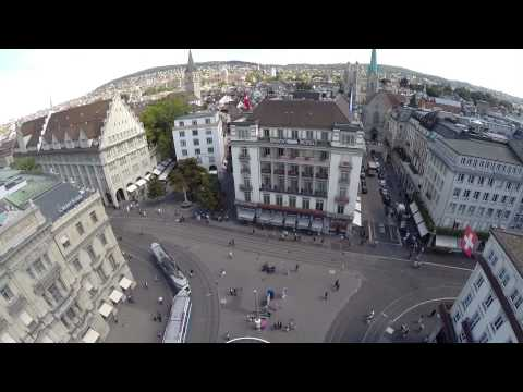 Zurich Paradeplatz Drone Air-View