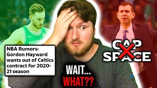 Welcome back everybody, in today's video i wanted to talk about the rumors surrounding gordon hayward wanting leave boston celtics this offseason. ha...