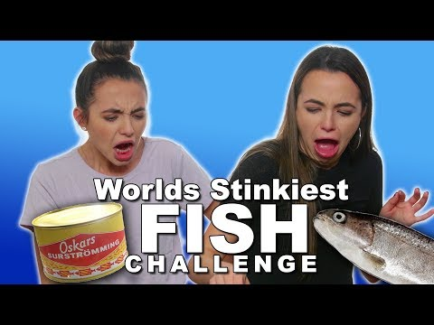 Stinky Fish Challenge  Merrell Twins
